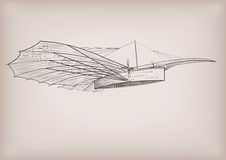 The first plane construction graphic drawing Royalty Free Stock Image