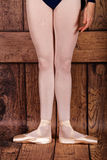 The first position in ballet. Stock Images