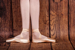 The first position in ballet. Royalty Free Stock Images