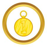 First position cold medal vector icon Stock Photography