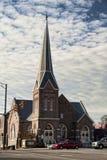 First Presbyterian Church Athens Alabama. This is the historic First Presbyterian Church in downtown Athens Alabama royalty free stock image