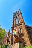 First Presbyterian Church on 5th Avenue, urban views of New York stock photography