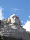 First President. George Washington's face at Mt.Rushmore site. Black Hills, SD Stock Images