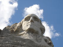 First president. Close-up of George Washington taken at Mt. Rushmore National Monument Stock Photography