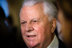 First President of Ukraine Leonid Kravchuk Stock Photography