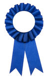 First Prize. A blue ribbon is a symbol for success and first prize stock photos