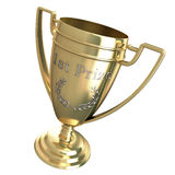 First prize trophy. Isolated on a white background Stock Image