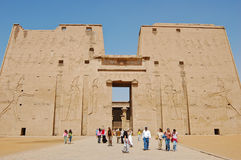 The first pylon at Edfu Temple, Egypt Royalty Free Stock Photos