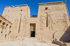 First Pylon of Philae Temple of Isis, Egypt Stock Photography