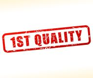 First quality stamp. Illustration of first quality stamp on white background Royalty Free Stock Image