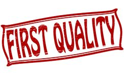 First quality. Stamp with text first quality inside,  illustration Royalty Free Stock Photos