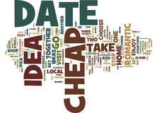 First Rate Cheap Date Ideas Word Cloud Concept. First Rate Cheap Date Ideas Text Background Word Cloud Concept Stock Photo