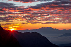First Ray of Mount Bromo Royalty Free Stock Photography
