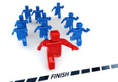 First Reaches to Success. Just one of them will reach to victory.. Seamless image for your projects Stock Images