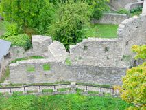 Hukvaldy castle ruins. The first references on the Hukvaldy Castle date back to the year 1285, it is expected that its construction started around mid 13th Stock Images