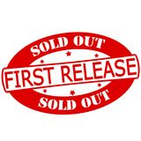 First release. Stamp with text first release inside,  illustration Royalty Free Stock Image