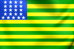 First Republican Brazilian Flag, United States of Brazil november 15-19, 1889. Close Up Stock Photos