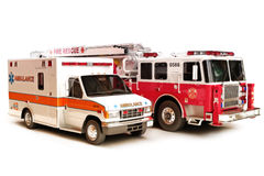 First responder vehicles stock photography