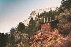 The first rest station on ther Bright Angel trail stock photo