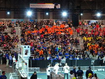 The 2016 FIRST® Robotics Competition 2. New York City FIRST® (For Inspiration and Recognition of Science and Technology) along with over 200 robotics teams royalty free stock images