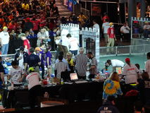 The 2016 FIRST® Robotics Competition 14. New York City FIRST® (For Inspiration and Recognition of Science and Technology) along with over 200 robotics stock photo