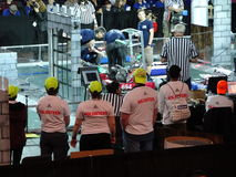 The 2016 FIRST® Robotics Competition 15. New York City FIRST® (For Inspiration and Recognition of Science and Technology) along with over 200 robotics royalty free stock photos