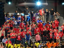 The 2016 FIRST® Robotics Competition 24. New York City FIRST® (For Inspiration and Recognition of Science and Technology) along with over 200 robotics stock photo