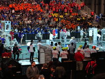 The 2016 FIRST® Robotics Competition 28. New York City FIRST® (For Inspiration and Recognition of Science and Technology) along with over 200 robotics stock photo