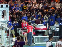 The 2016 FIRST® Robotics Competition 31. New York City FIRST® (For Inspiration and Recognition of Science and Technology) along with over 200 robotics royalty free stock images