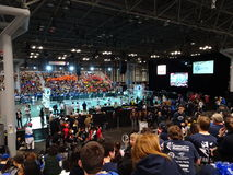 The 2016 FIRST® Robotics Competition 49. New York City FIRST® (For Inspiration and Recognition of Science and Technology) along with over 200 robotics stock photography