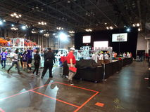 The 2016 FIRST® Robotics Competition 56. New York City FIRST® (For Inspiration and Recognition of Science and Technology) along with over 200 robotics stock photo