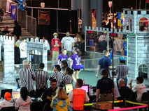 The 2016 FIRST® Robotics Competition 63. New York City FIRST® (For Inspiration and Recognition of Science and Technology) along with over 200 robotics stock image