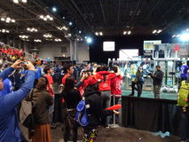 The 2016 FIRST® Robotics Competition 64. New York City FIRST® (For Inspiration and Recognition of Science and Technology) along with over 200 robotics royalty free stock photo