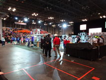 The 2016 FIRST® Robotics Competition 69. New York City FIRST® (For Inspiration and Recognition of Science and Technology) along with over 200 robotics stock photo