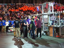 The 2016 FIRST® Robotics Competition 70. New York City FIRST® (For Inspiration and Recognition of Science and Technology) along with over 200 robotics royalty free stock photos