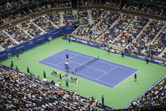 First round evening match at US Open 2015 Stock Images