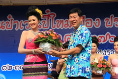 The First Runner-Up for Miss Songkran 2014 Stock Image
