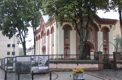 The first Russian Church from Vilnius in Lithuania Stock Photo