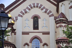 The first Russian Church from Vilnius in Lithuania Stock Photography