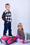 The first school day Royalty Free Stock Image