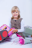 The first school day Royalty Free Stock Photos