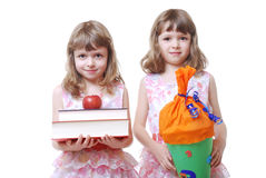 First school day Royalty Free Stock Image