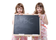 First school day Royalty Free Stock Images