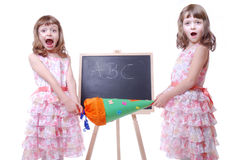First school day Royalty Free Stock Photo