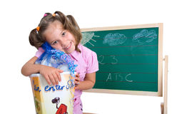 First school day Royalty Free Stock Photos
