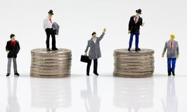 First, second, third, forth and fifth place money makers. First, second, third, forth and fifth place business men, money makers Royalty Free Stock Image