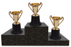 First, Second and Third Place royalty free stock photos