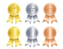 First second third place ribbon Royalty Free Stock Photos