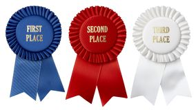 Free First, Second, Third Place Ribbons Royalty Free Stock Images - 13033019