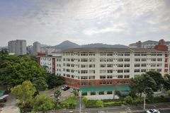 Xiamen first middle school in the afternoon, adobe rgb. The first secondary school of xiamen city, fujian province was founded in 1906. in 1953 was as a key Royalty Free Stock Photography